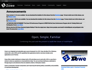zowe.org screenshot