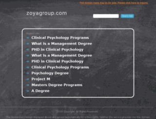 zoyagroup.com screenshot