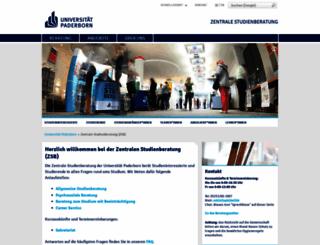 zsb.uni-paderborn.de screenshot