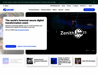 zscaler.com screenshot