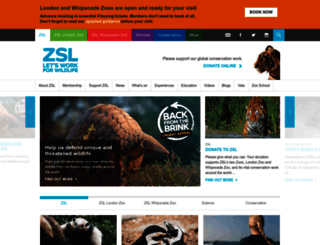 zsl.org screenshot