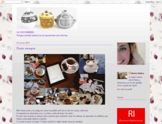 zuccheriera.blogspot.com screenshot