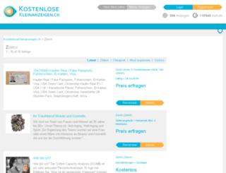 zuerich.kostenlosekleinanzeigen.ch screenshot