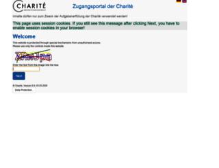 zugang.charite.de screenshot