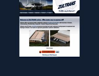 zultrans.co.za screenshot