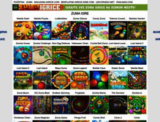 zuma-igrice.com screenshot