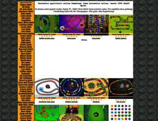 zuma.onlinespiele1.com screenshot