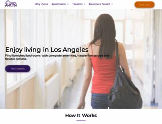 zumahousing.com screenshot