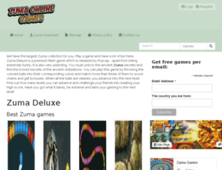 zumaonlinegameszone.com screenshot