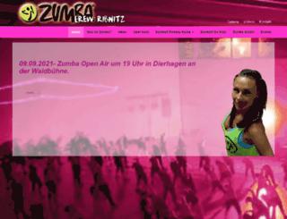 zumba-crew-ribnitz.de screenshot