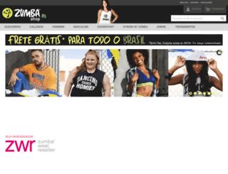 zumbashop.com.br screenshot