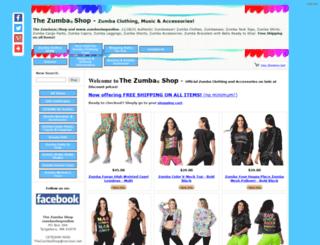 zumbashoponline.com screenshot