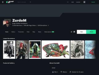 zurdom.deviantart.com screenshot