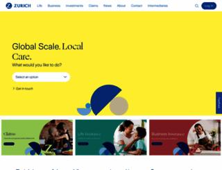 zurich.com.au screenshot