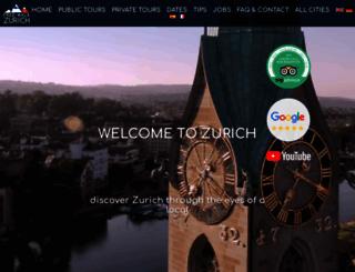 zurichbybike.ch screenshot