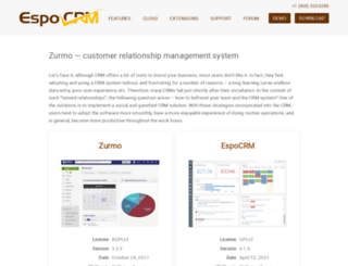 zurmo.org screenshot