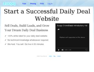 zuupy.com screenshot