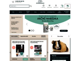 zverokruh-shop.cz screenshot
