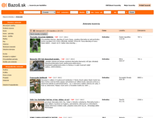 zvierata.bazos.sk screenshot