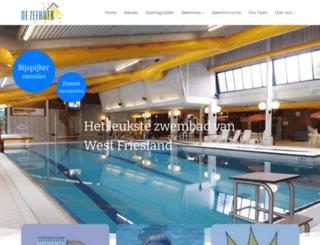zwembaddezeehoek.nl screenshot