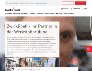 zwick.de screenshot