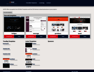 zypopwebtemplates.com screenshot