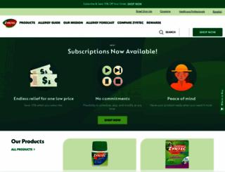zyrtec.com screenshot