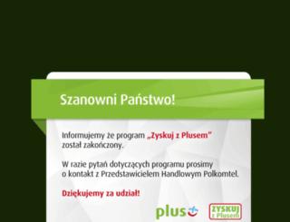 zyskujzplusem.pl screenshot