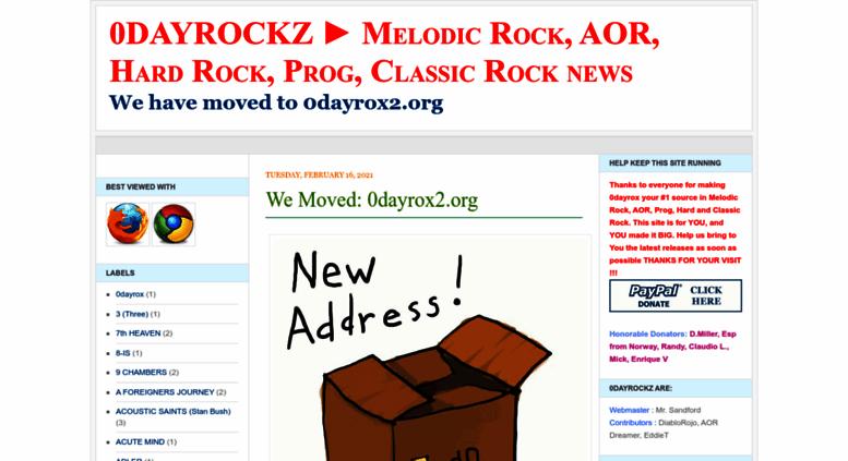 Access 0dayrockz blogspot com  0DAYROX ▻ Melodic Rock, AOR, Hard