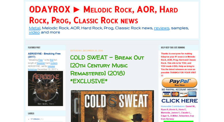 Access 0dayrox blogspot it  0DAYROX ▻ Melodic Rock, AOR, Hard Rock