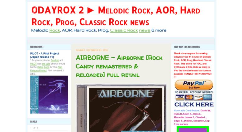 Access 0dayrox2 blogspot sk  0DAYROX 2 ▻ Melodic Rock, AOR, Hard