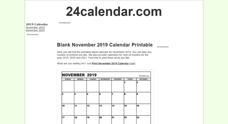 24calendar January 2019 Access 24calendar.com. Blank May 2019 Calendar in Printable format.