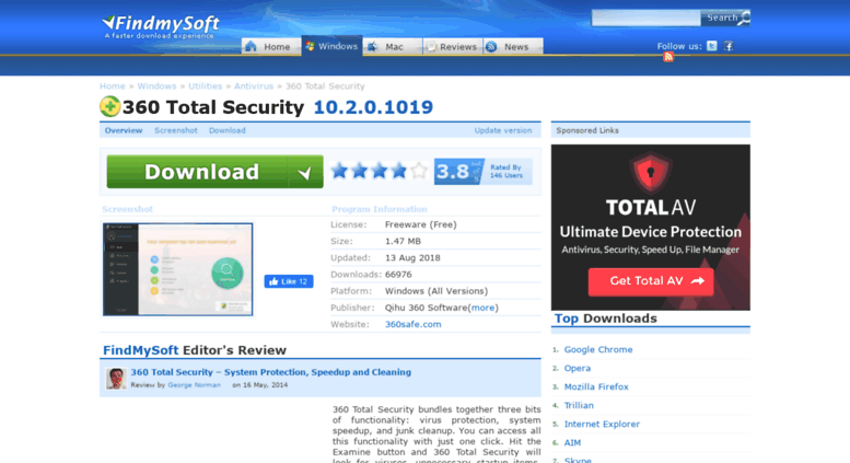 Access 360-total-security findmysoft com  » Download 360