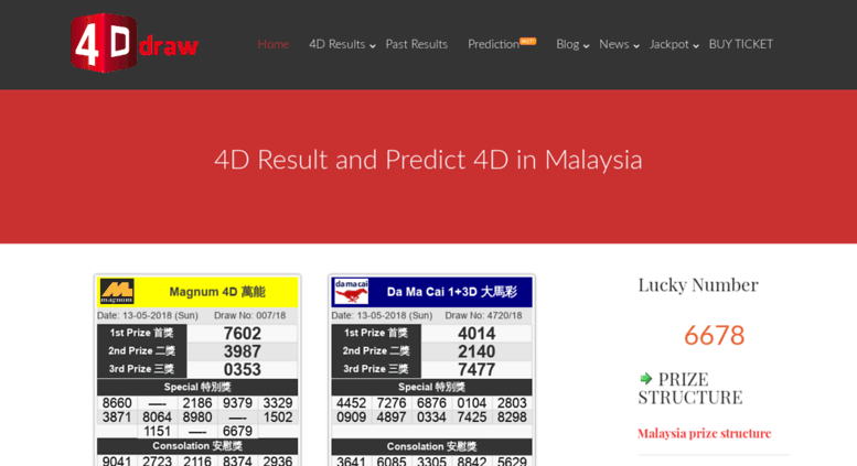 Access 4ddraw com  Malaysia Live 4D Result(First) - Magnum 4D, Toto