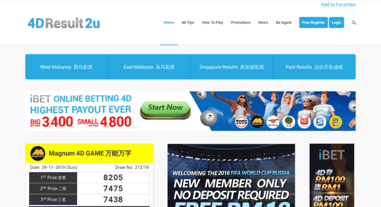 Access 4dresult2u com  4D Result Malaysia - Sport ToTo Jackpot