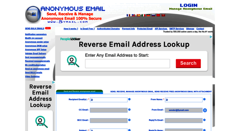 Access 5ymail com  Send Anonymous Emails, Free Anonymous