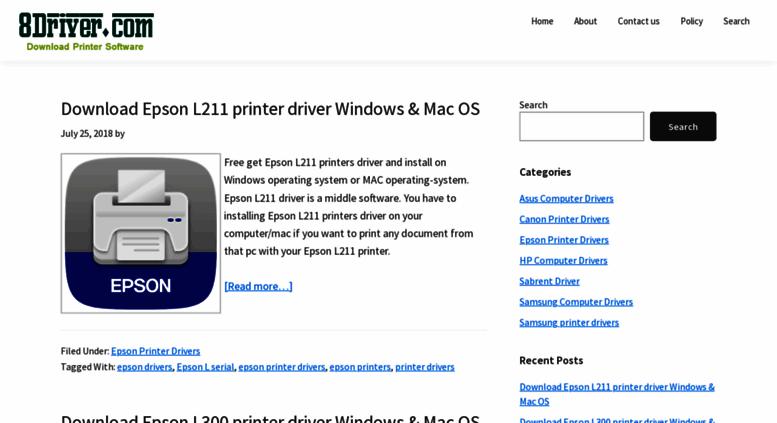 Access 8driver com  Download Canon Printer Drivers epson