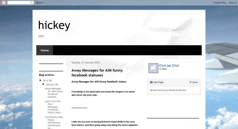 Access a-hickey blogspot in  hickey
