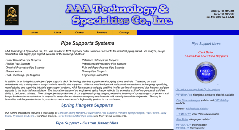 Access aaatech com  Pipe Supports Systems-AAA Technology