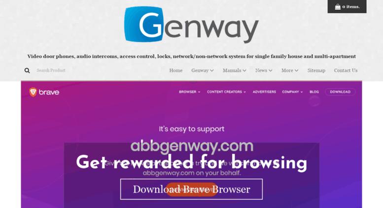 Excellent Access Abbgenway Com Genway Doorphones Video Phones Intercoms Wiring Digital Resources Otenewoestevosnl