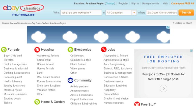 Access Acadiana Kijiji Com Acadiana Region Classifieds Free Classifieds Ads For Acadiana Region Louisiana At Ebay Classified