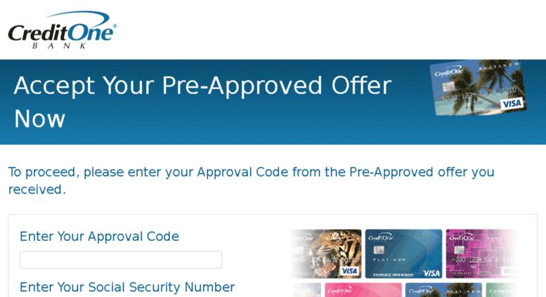 Credit One Pre Approval >> Access Accept Creditonebank Com