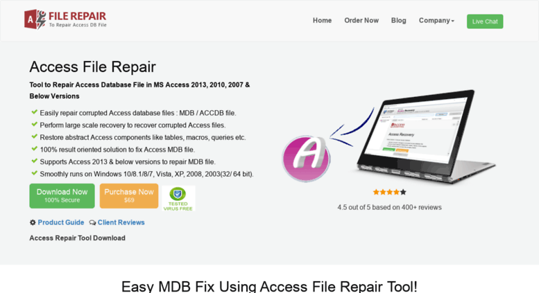 Access accessfilerepair com  Access Repair Tool – Recover