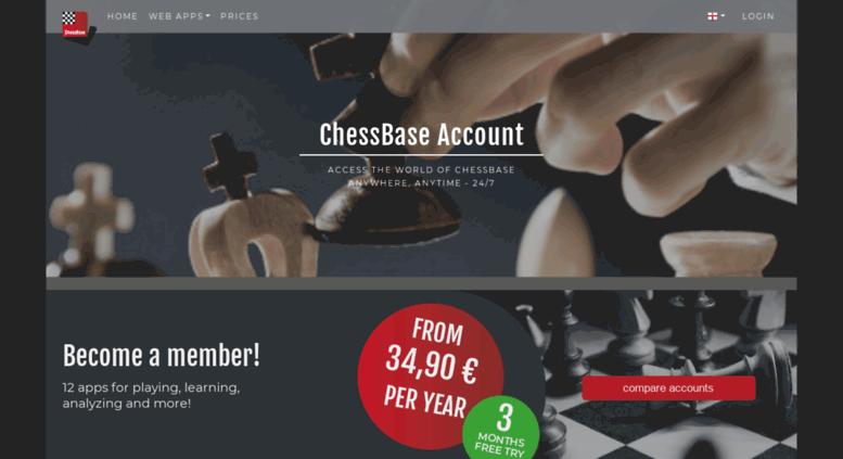 Access account chessbase com  Chess playing and training
