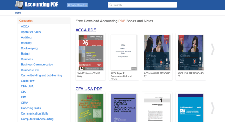 Accounting pdf management acca