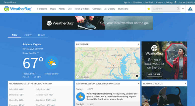 Access achieve weatherbug com  Local and National Weather