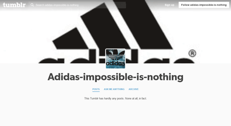 sélection premium c2709 cdf2f Access adidas-impossible-is-nothing.tumblr.com. Adidas ...