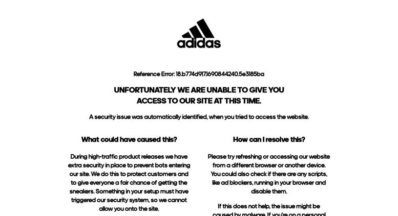 617c0e93d7 Access adidas.com. adidas Official Website