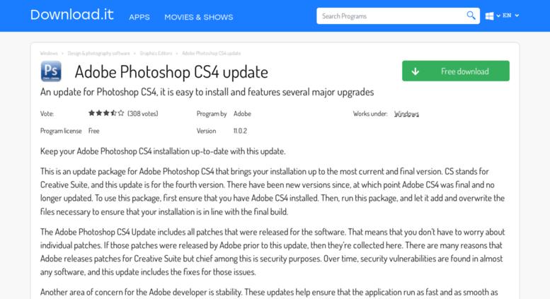 Photoshop Cs4 Windows 7 - sitespeedlost