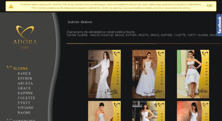 b61f474b71 Access adora.bai.pl. Suknie ślubne i sukienki komunijne - hurt ...
